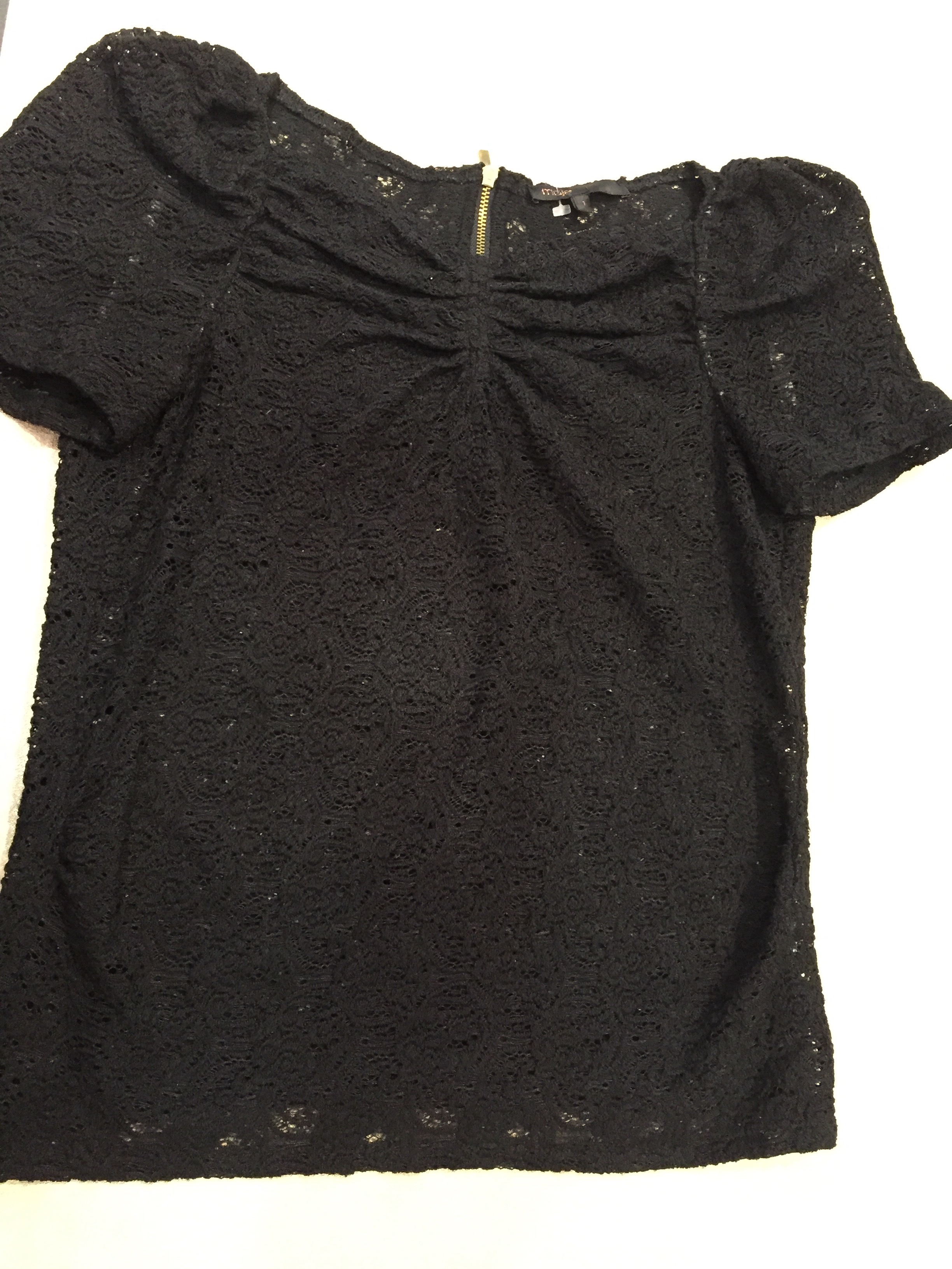 Robe soie noire maje
